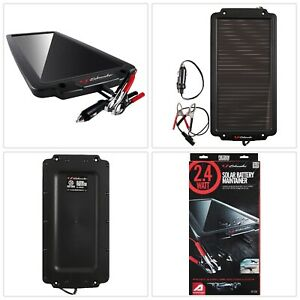 Car Battery Charger Auto Vehicle Solar Panel Maintainer Portable Schumacher 2 4w