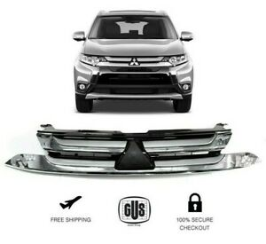 For Mitsubishi Outlander Front Bumper Grille Chrome Years 2017 To 2018