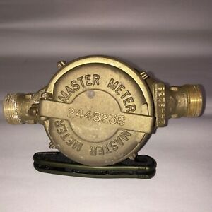 Vintage Master Meter Steampunk Water Meter Full Brass 5 8 Model Mm3