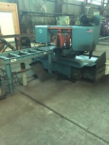 2014 Doall 14 X 20 Semi Automatic Band Saw with 36 Of Idle Conveyors