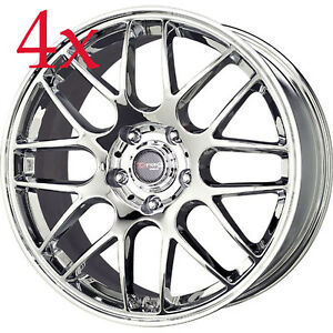Drag Wheels Dr 37 17x7 5 5x120 Et42 Chrome Rims For Bmw 325 328 335 E90 E92