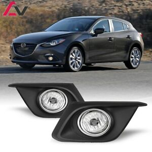 For Mazda 3 14 16 Clear Lens Pair Bumper Oe Fog Light Lamp Wiring Switch Kit