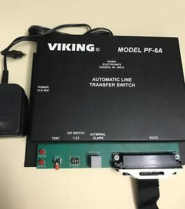 Viking Power Failure Phone Transfer Switch model Pf 6a