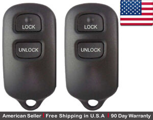 2x New Replacement Keyless Entry Remote Control Key Fob For Toyota Hyq12ban