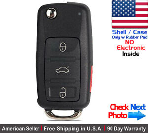 1x New Replacement Remote Key Fob Flip Case For Volkswagen Shell Only
