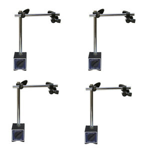 4 Pc 170 Lbs Cap Standard Magnetic Base Dial Indicator Holder W Fine Adjustment