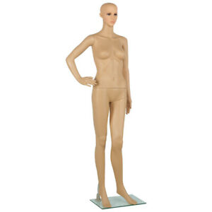 68 9 adjustable Full Body Female Mannequin Realistic Display Dress W Glass Base