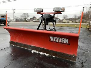 Western Midweight Snow Plow 7 6 Steel Ultramount 2 Excellent Condition
