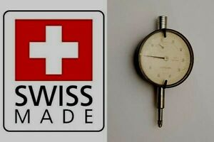 Brown Sharpe Tesa Dial Test Indicator 001mm Compac Geneve Swiss Jet 512 K
