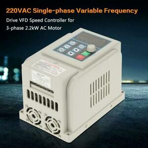 220vac Single phase Variable Frequency Drive Vfd Speed Controller 12a Ac Motor