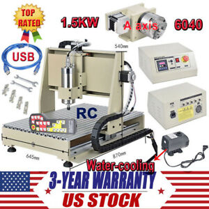 Usb 4axis 1500w 3040t Cnc Router 3d Engraver Engraving Drilling Milling Machine