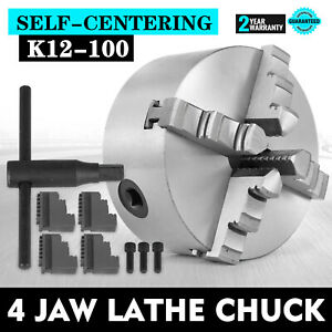 K12 100 4 Jaw Lathe Chuck 4 Inch Self Centering Scroll Lathe Chuck