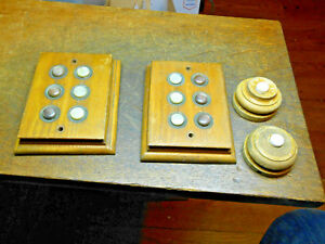 2 Old Wood Round Door Bell Buttons 2 6 Unit Apartment Buzzer Buttons