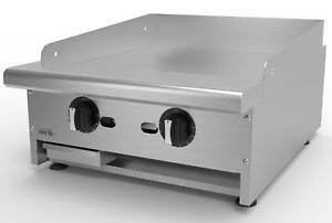 Asber 24 Wide Thermostatic Griddle Natural Gas New