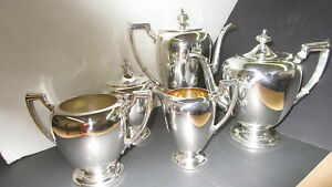Antique Sterling Silver Dining Complete Tea Coffee Service Set 2 738 Grams