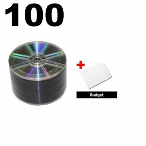 100 Grade A 16x Dvd r 4 7gb Shiny Silver shrink Wrap 100 Paper Sleeves