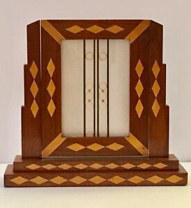 Vintage Inlaid Wood Art Deco Standing Frame Very Good Vintage Condition