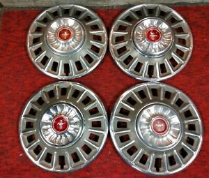 1968 68 Ford Mustang 14 Hubcaps Wheelcovers Center Caps Vintage Classic