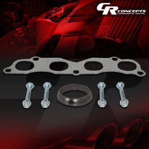 Exhaust Header Gasket Set For 02 06 Acura Rsx Dc5 Honda Civic Si Sir 2 0l K20