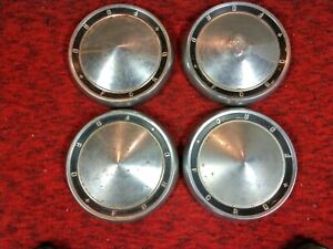 Vintage 1960 1961 Ford Dog Dish Hubcaps Galaxie Starliner