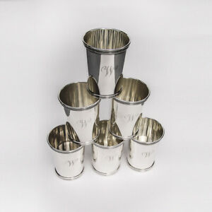 Mint Julep Cups Set Of 6 Sterling Silver Cartier