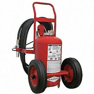Amerex 452 Dry Chemical Bc Class Wheeled Fire Extinguisher With 125 Lb 5 Sec