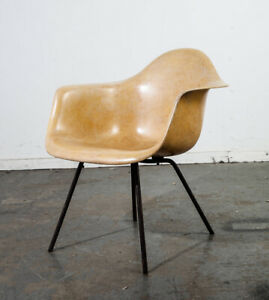 Mid Century Modern Lounge Chair Shell Eames Herman Miller Yellow Zenith Arm Mcm