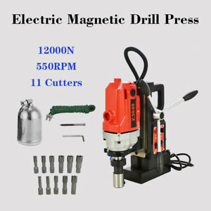 11pcs Md40 Magnetic Drill Press 1 Hss Cutter Set Annular Cutter Kit Mag Drill
