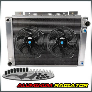 For 1964 1966 Ford Thunderbird All Aluminum Radiator 2 Pcs 10 Fan Cooling