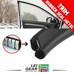 Autos Vehicle Car Rubber Seal Weatherstrip Soundproof Anti Rub Metal Trim 25ft