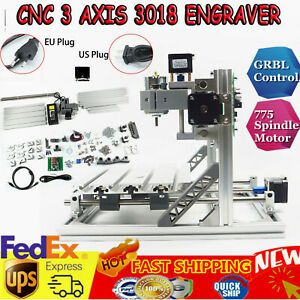 3 Axis 3018 Mini Cnc Router Milling Wood Engraving Machine Printer Grbl Control
