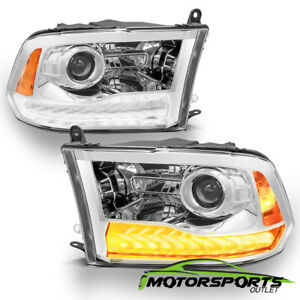 anti fog 2009 2018 Dodge Ram 1500 2500 3500 Led Drl Projector Headlights