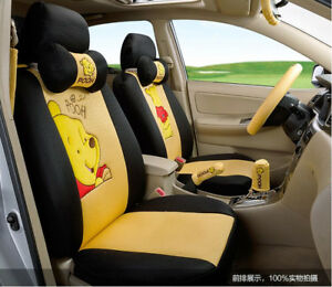 18 Piece Yellow Winnie The Pooh Car Seat Covers