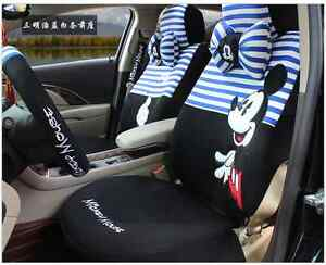 20 Piece Blue And White Stripy Mickey Mouse Car Seat Covers