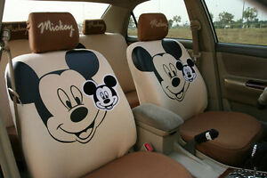 10 Piece Brown Big Mickey Mouse Car Seat Covers