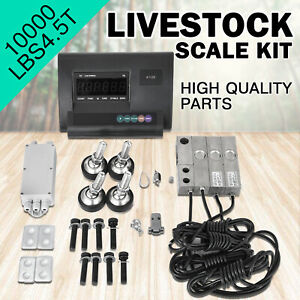 10000lbs Livestock Scale Kit For Animals Agriculture Floor Scale Stainless Steel