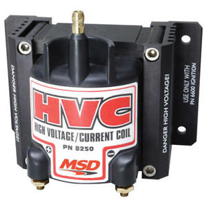 Msd Ignition Coil 8250 6 Hvc Black 40 000 Volts E core Hei male