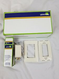 10 Lt Almond Leviton 5621 2t Decora Plus 20 amp Single pole Rocker Light Switch