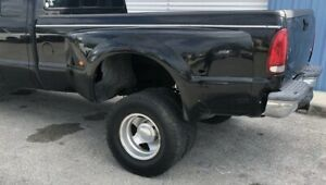 99 07 Ford F350 Super Duty Dually Long 8 Bed Box Black With Tailgate And Lights