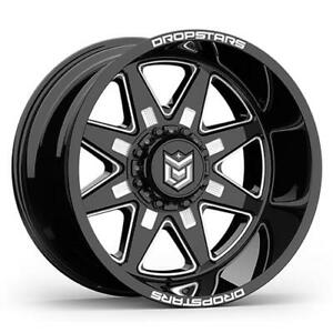 4 20x12 Black Dropstars Ds655 655bm 5x4 5 5x5 44 Nitto Ridge Grappler 305x50