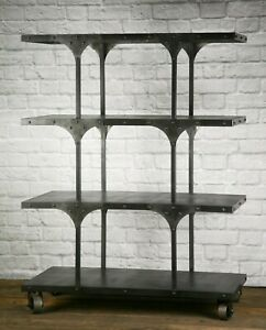 Modern Industrial Retail Fixture Modern Shelving Unit Vintage Retail Display