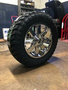 20x9 Ion 141 35 Mt Chrome Wheel And Tire Package 6x135 Ford F150 Expedition