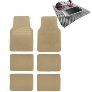 Suv Floor Mat For Auto 6pc Carpet Universal Fit 3 Colors W Gray Dash Mat