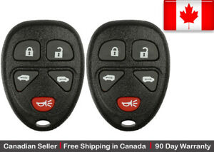 2x New Replacement Keyless Entry Remote Key Fob For Gm Kobgt04a 15788020