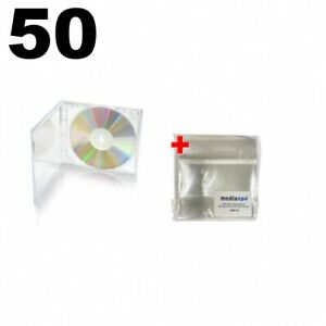 50 Standard Clear Cd Jewel Case 100 Opp Plastic Wrap Bag