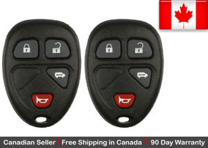 2 New Replacement Keyless Entry Remote Key Fob For Gm Kobgt04a 15788021 15100812
