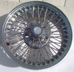 Jaguar Xjs Xj6 Chrome Dayton Wire Wheel 15 X 7 60 Spoke Design Mdl 6802 Nice 88