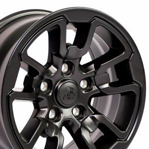 17 Rim Fits Ram 1500 rebel Style Satin Black 17x8 Hollander 2614