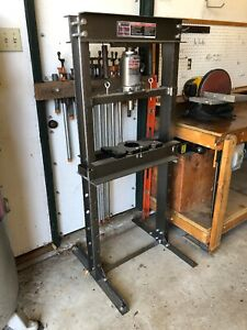 Central Machinery 20 Ton Shop Press Floor H Frame Plates Hydraulic Equipment