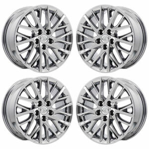 17 Lexus Es350 Pvd Chrome Oem Wheel Rims 74332 With Caps Set Of 4 New